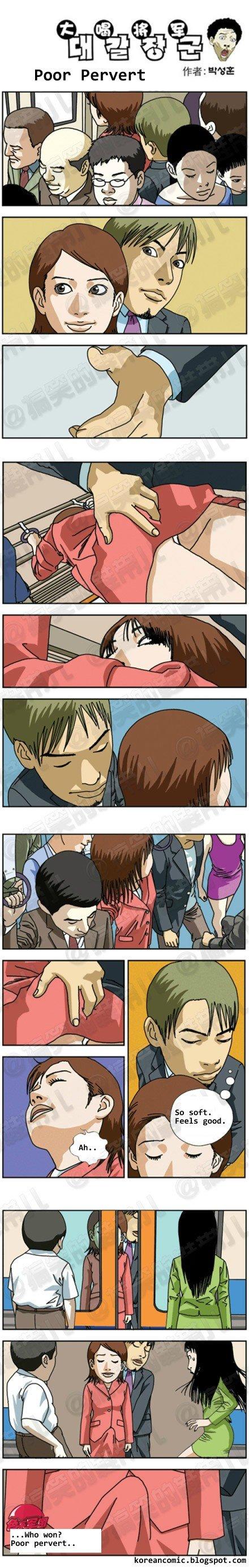 """Win?. . Poor Pervert """"a! Hun? Paar pervert... reminds me of this korean comics"""
