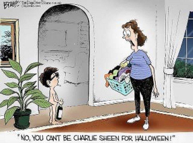 Win. Best Halloween Costume of 2011. win Charlie sheen happy Halloween