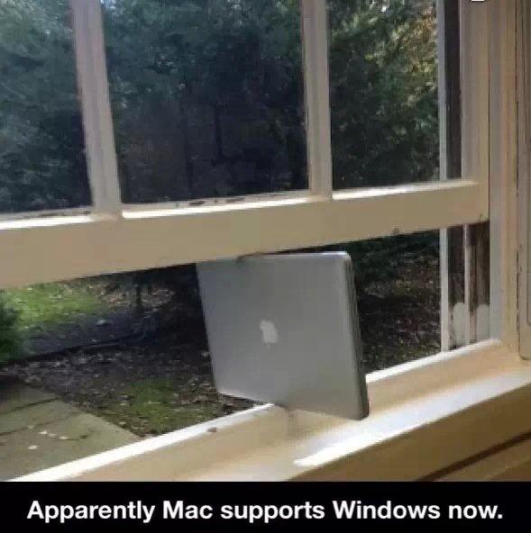 Windows vista. . Apparently Mac supports Windows now.. REPOST . Windows vista Apparently Mac supports now REPOST
