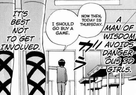 Wisdom. This guy has his priorities straight.. Tum. t inifinite, .. (Pizza and the little bully) Anime manga Video Games vidya otaku the world god on