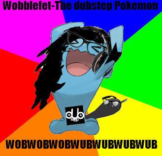 Wobbufet (read description). Wobblefet-The dubstep pokemon. this pokemon dresses like a hipster and styles its hair much like Skrillex.Its often seen listening  wobblefet dubste