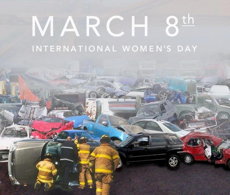 Women's day. .. When women drive < Women's day When women drive <