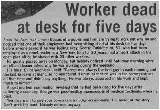 """Work sucks. 5 days! how does that happen?. Worker dead at desk for five days thwarts. tte tit.. tolreit ,.. t. . bie. ti. sit. . .dpad at """" tiolet ttr. r: thrd. Work sucks 5 days! how does that happen? Worker dead at desk for five days thwarts tte tit tolreit t bie ti sit dpad """" tiolet ttr r: thrd"""