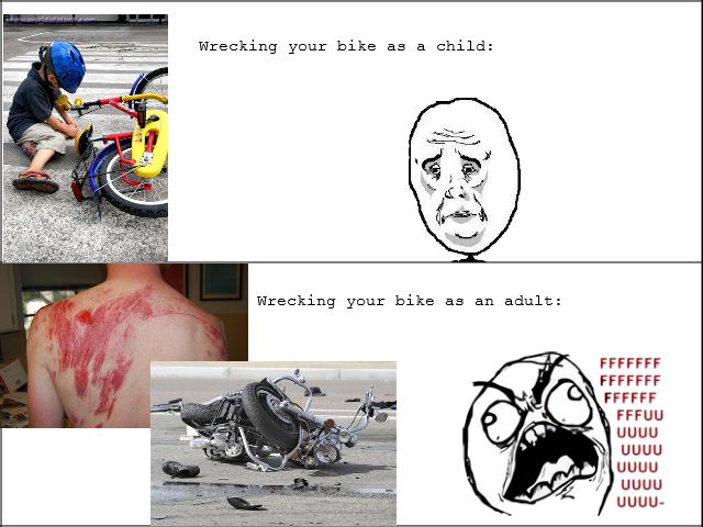 Wrecking your bike. It only gets worse..... uguu uguu l LILILI LOLH.. ILIA motorcycle bicycle bike wreck