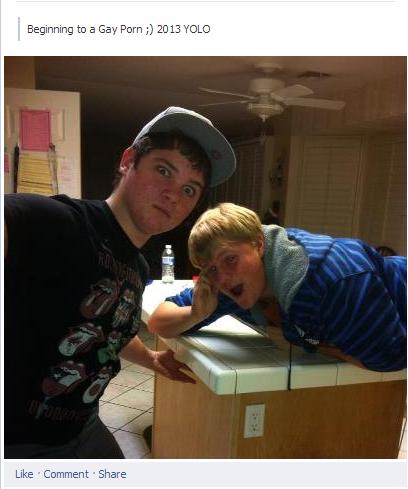 WTF? o_O. . Gay awkward funny facebook