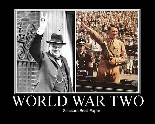 ww2 Win.. win.. lil' i', JAKEWO Scissors Beat Paper. who would the rock be? Chuck Norris? yayy santa